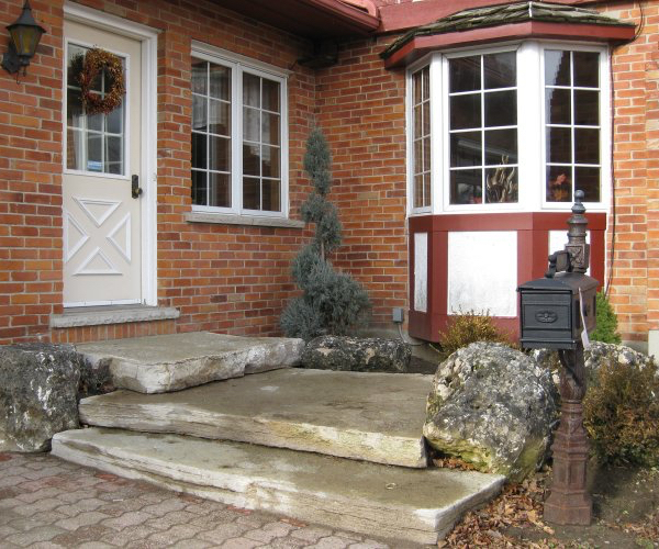 Entryway with Stone Steps