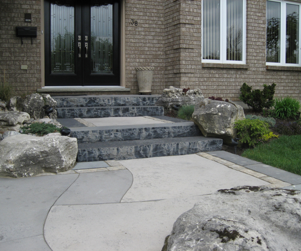 Natural Stone Square Cut Steps with Precision Cuts