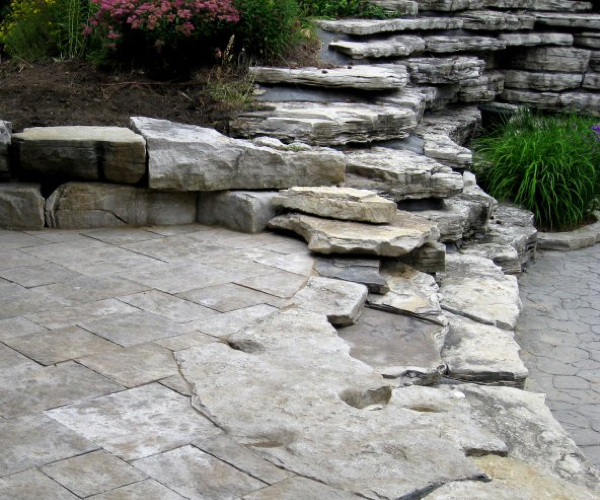 Terraced Rock Landscaping