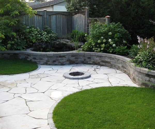 Backyard Patio with FirePit 2