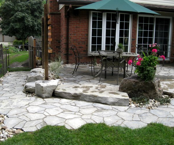 Paving Stone Patio with Natural Edge