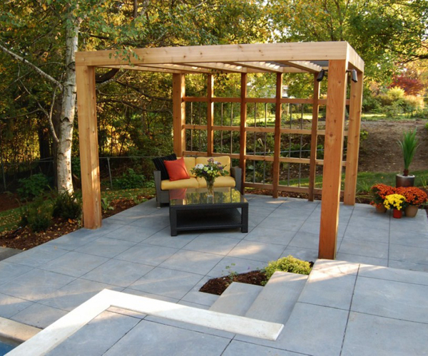 Modern Patio with Pergola