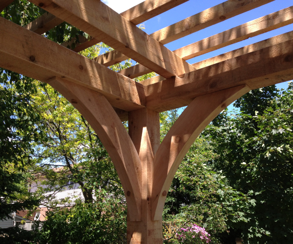 Rough Timber Pergola Detail